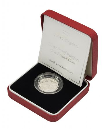 2007 Silver Proof Piedfort One Pound